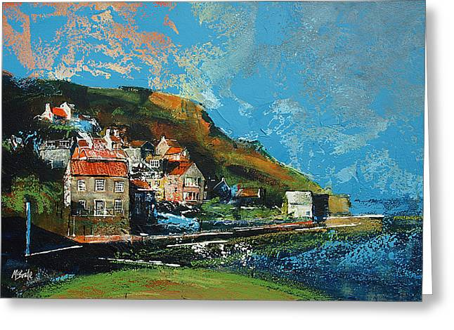 North Greeting Cards - Runswick Bay Yorkshire Greeting Card by Neil McBride