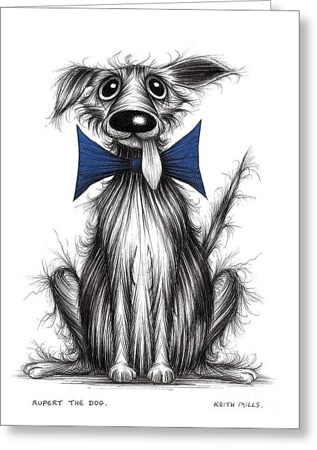 Rupert The Dog Greeting Card by Keith Mills