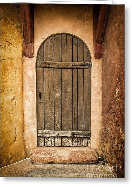 Shed Greeting Cards - Rural Arch Door Greeting Card by Carlos Caetano