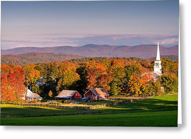 Vermont Village Greeting Cards - Rural Attraction Greeting Card by Michael Blanchette