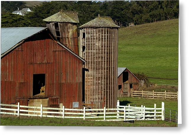 Marin County Greeting Cards - Rural Barn Greeting Card by Bill Gallagher