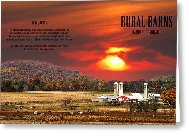 Farm Life Framed Prints Greeting Cards - Rural Barns By Randall Branham Greeting Card by Randall Branham