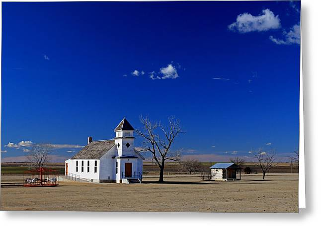 Sante Fe Trail Greeting Cards - Rural Church Greeting Card by Christopher McKenzie