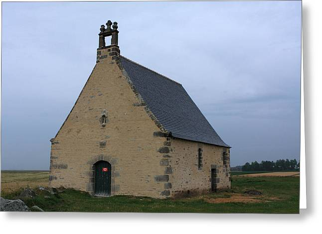 Rural Church Greeting Cards - Rural Church In Brittany Greeting Card by Aidan Moran