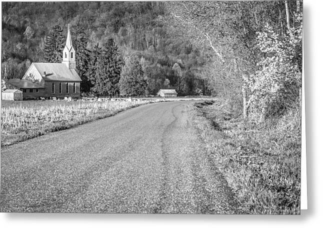 Road Travel Greeting Cards - Rural Church Greeting Card by Thomas Young