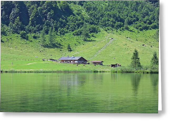 Cattle-shed Greeting Cards - Rural Germany Greeting Card by Mountain Dreams
