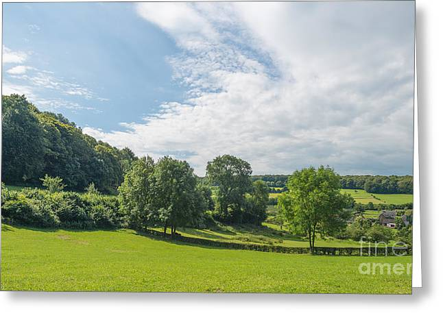 Limburg Greeting Cards - Rural hilly landscape in summer Greeting Card by Jan Marijs