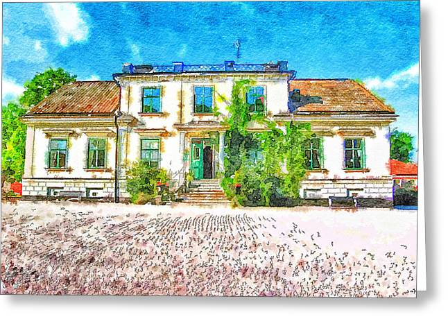 Urban Nature Study Greeting Cards - Rural Hotel in Sweden 2 Greeting Card by Yury Malkov