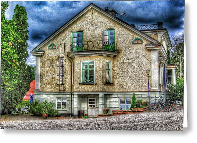 Sweden Digital Art Greeting Cards - Rural Hotel in Sweden Greeting Card by Yury Malkov