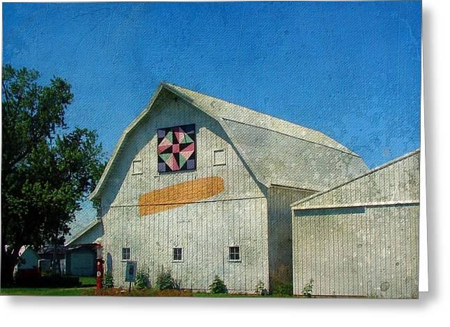 Rural Iowa Barn Greeting Card by Cassie Peters