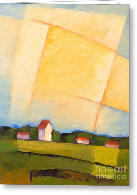 Rural Landscapes Paintings Greeting Cards - Rural Landscape Greeting Card by Lutz Baar
