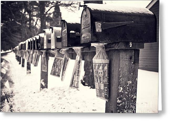Mobile Greeting Cards - Rural Mailboxes Greeting Card by Edward Fielding