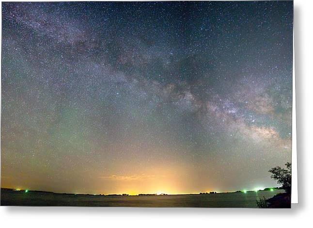Morgan County Greeting Cards - Rural Night Milky Way Sky Panorama Greeting Card by James BO  Insogna