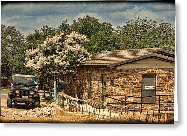 Crape Greeting Cards - Rural Office Building Greeting Card by Linda Phelps