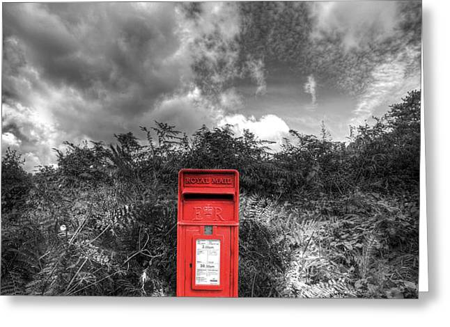 Rural Post box Greeting Card by Mal Bray