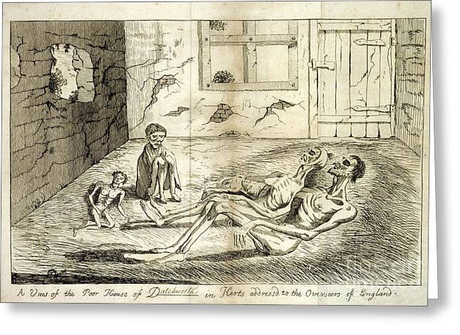 Sociology Greeting Cards - Rural Poverty And Starvation, 1760s Greeting Card by British Library