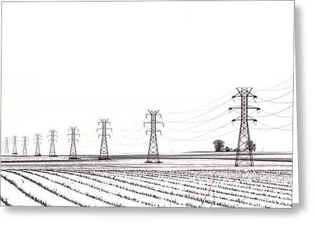 Lasalle Greeting Cards - Rural Power Greeting Card by Steve Gadomski