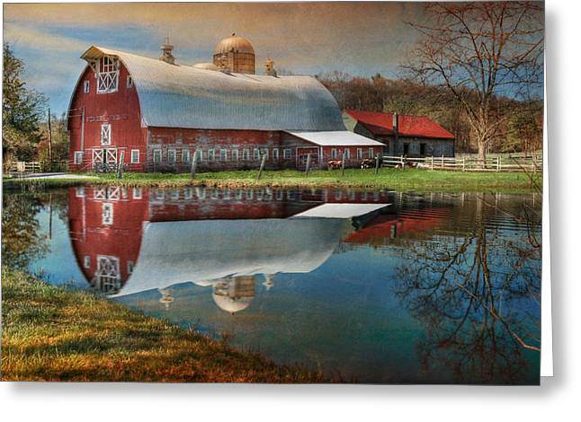 Barn Digital Greeting Cards - Rural Reflections Greeting Card by Lori Deiter