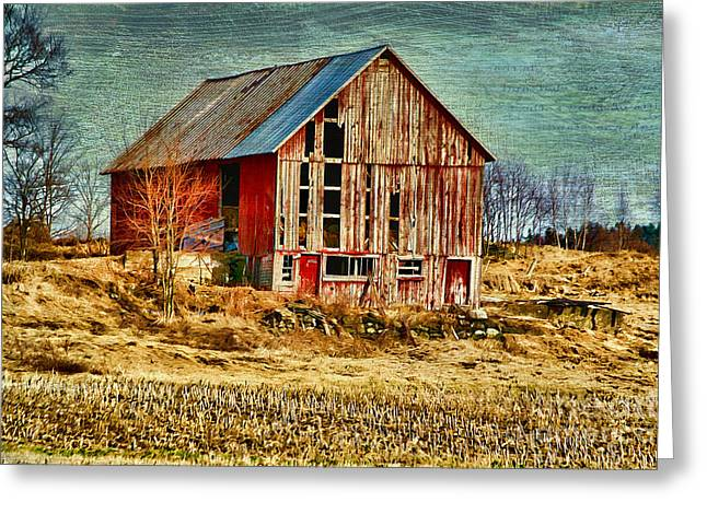 Deborah Benoit Greeting Cards - Rural Rustic Vermont Scene Greeting Card by Deborah Benoit