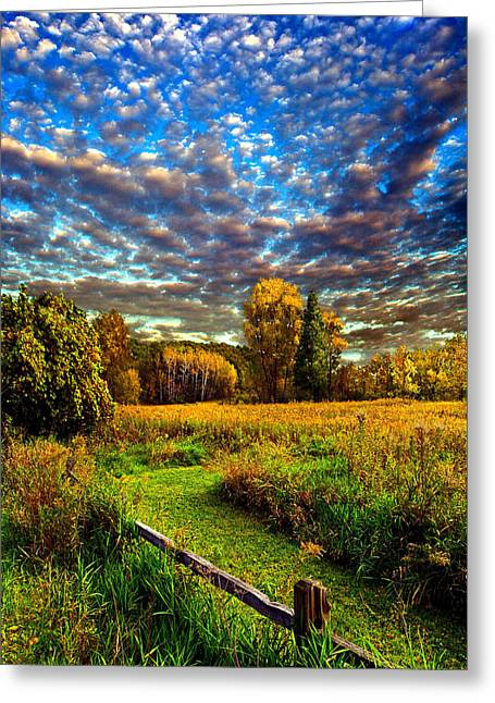 Fence Greeting Cards - Rural Way Greeting Card by Phil Koch