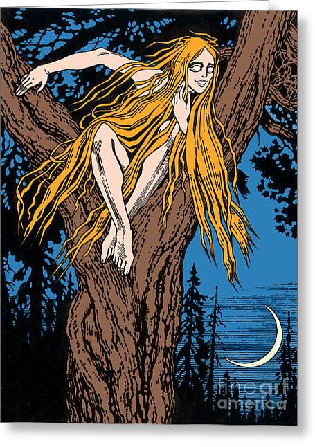 Rusalka Greeting Card by Photo Researchers