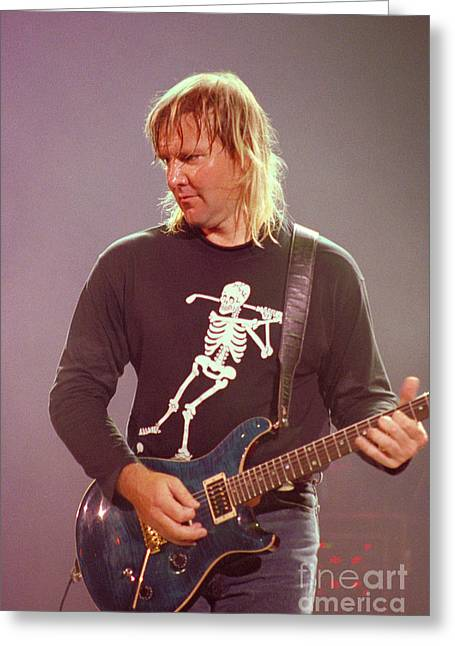 Tim Bischoff Greeting Cards - RUSH - Alex Lifeson-48 Greeting Card by Timothy Bischoff