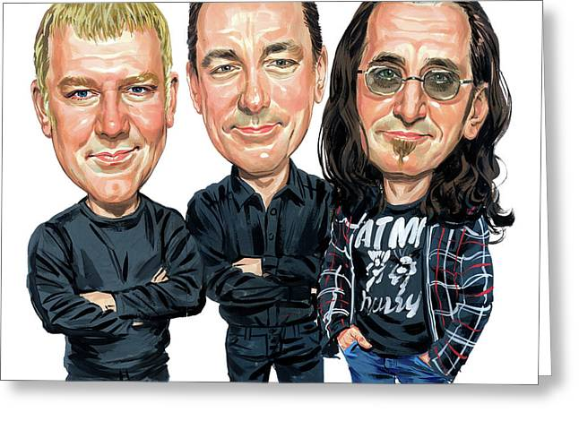 Celebrities Greeting Cards - Rush Greeting Card by Art
