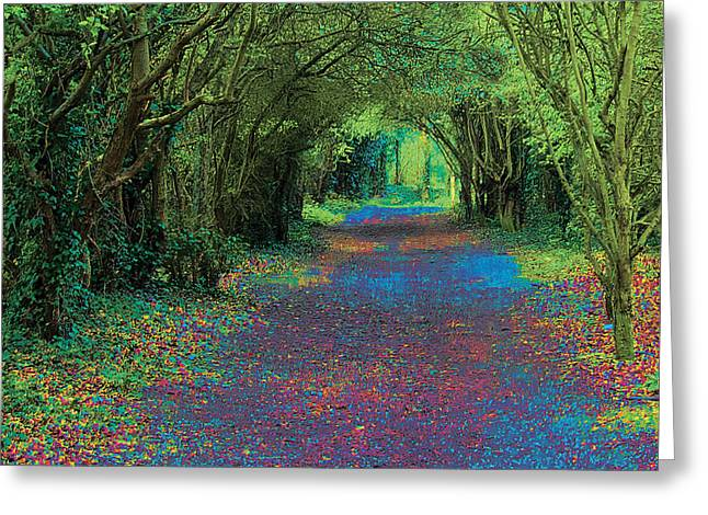 Posters Greeting Cards - Rush Avenue Greeting Card by David Davies