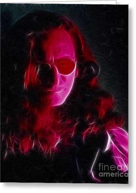 Live Art Greeting Cards - RUSH-Geddy-Bones-92-GC24A-Fractal Greeting Card by Gary Gingrich Galleries