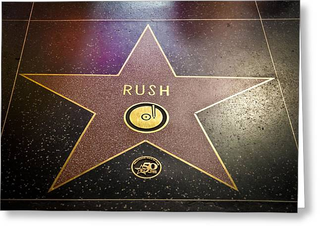 Recently Sold -  - Fame Greeting Cards - Rush Has a Star Greeting Card by April Reppucci