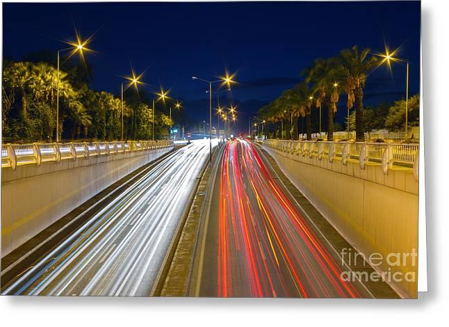 Roadway Greeting Cards - Rush Hour Greeting Card by Bahadir Yeniceri