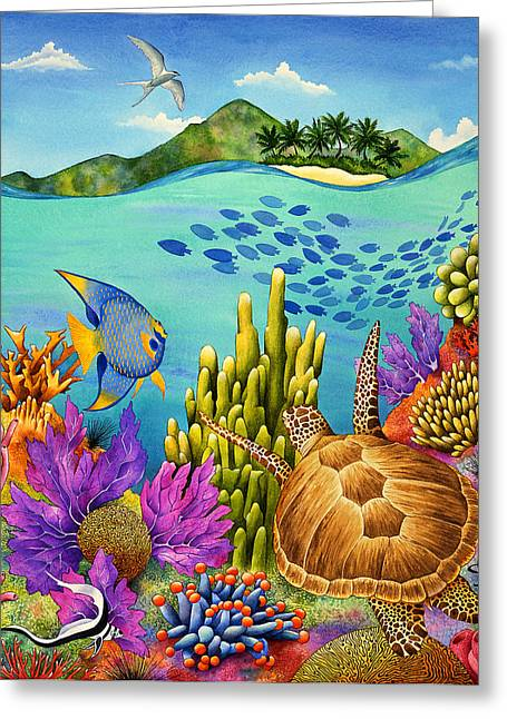 Sea Animals Greeting Cards - Rush Hour Greeting Card by Carolyn Steele