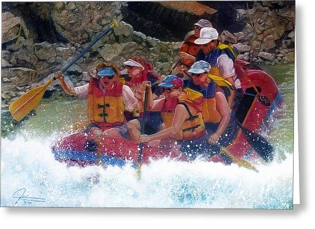 Rapids Mixed Media Greeting Cards - Rush Hour Greeting Card by Jose Rodriguez