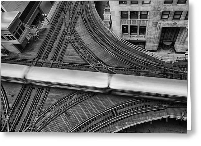 Metra Greeting Cards - Chicago Rush Hour Greeting Card by Mike Burgquist