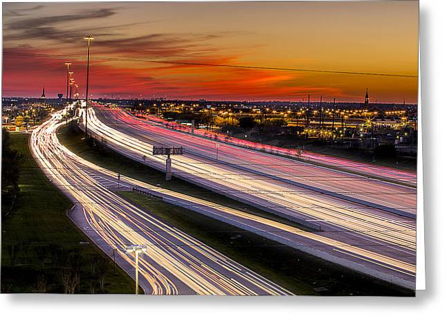 Goff Greeting Cards - Rush Hour on 59 Greeting Card by Micah Goff