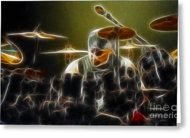 Live Art Greeting Cards - RUSH-Neil-Bones-92-GA24-Fractal Greeting Card by Gary Gingrich Galleries