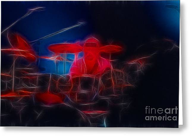 Live Art Greeting Cards - RUSH-Neil-Bones-92-GB4A-Fractal Greeting Card by Gary Gingrich Galleries