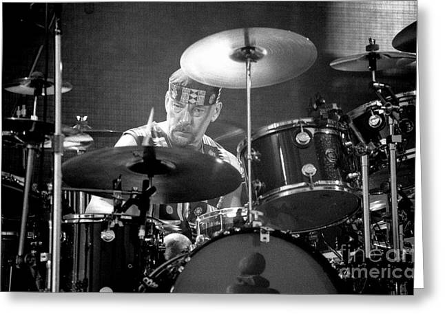Live Music Greeting Cards - RUSH-Neil-GP17 Greeting Card by Timothy Bischoff