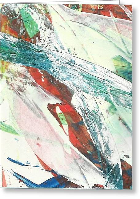 Abstract Style Greeting Cards - Rush Greeting Card by P J Lewis