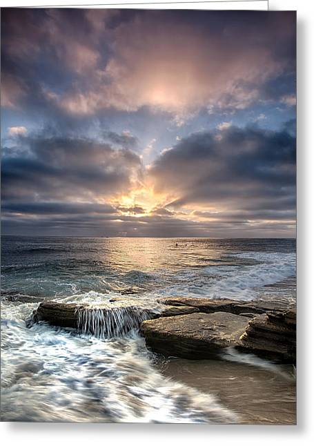 Rushing Water Greeting Cards - Rush Greeting Card by Peter Tellone