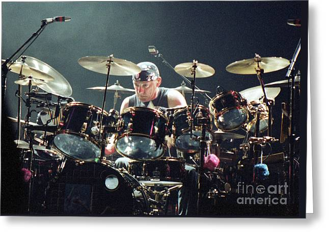 Rock Roll Greeting Cards - RUSH92-Neil-A010 Greeting Card by Timothy Bischoff