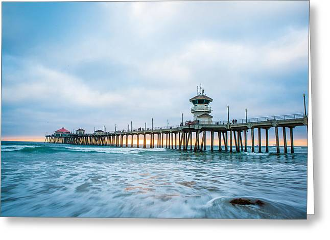 Ocean Front Landscape Greeting Cards - Rushing Sunset Greeting Card by Andrew Slater