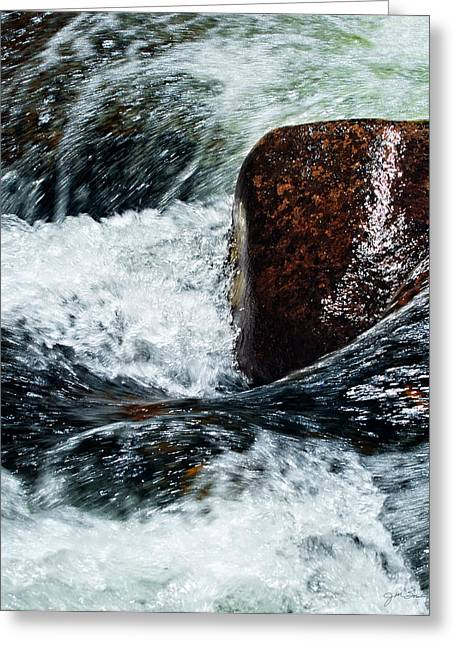 Guy Gifts For Him Greeting Cards - Rushing Water Greeting Card by Julie Magers Soulen