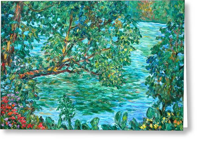 Impressionist Greeting Cards - Rushing Water Greeting Card by Kendall Kessler