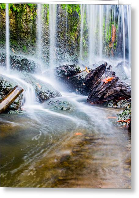 Burst Greeting Cards - Rushing Water Greeting Card by Parker Cunningham