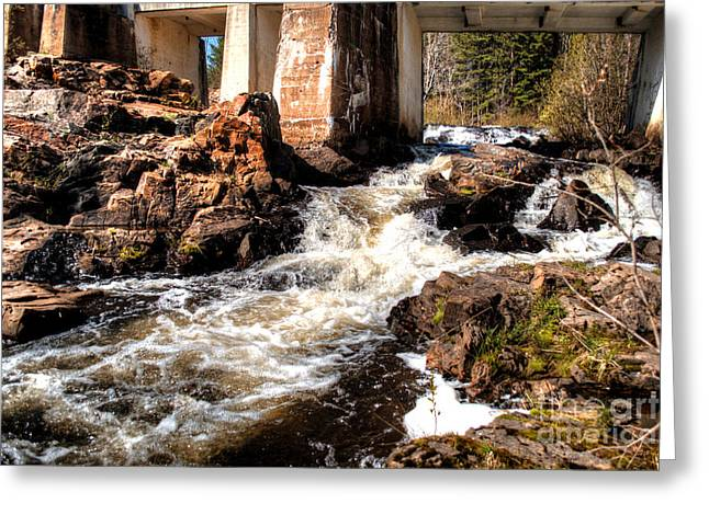 Unfettered Greeting Cards - Rushing Waters Marquette 2 Greeting Card by Deborah Smolinske