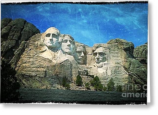 Gutzon Greeting Cards - Rushmore Greeting Card by Perry Webster