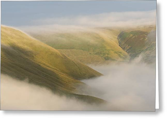 Inversion Greeting Cards - Rushup Edge Greeting Card by Steve Tucker