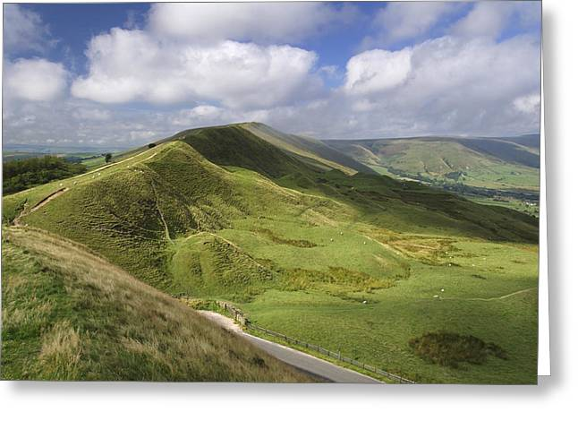 Vale Greeting Cards - Rushup Edge - viewed from Mam Tor Greeting Card by Rod Johnson