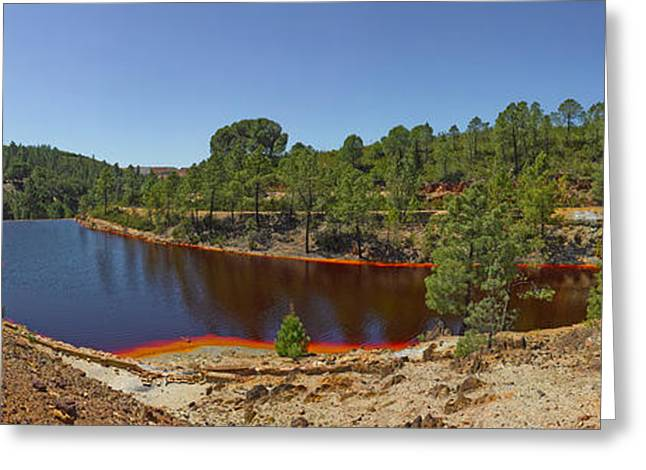 Pena Greeting Cards - Russed Colored Waters Near Mine, Pena Greeting Card by Panoramic Images
